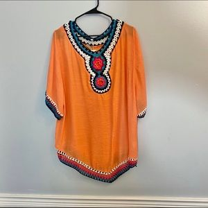 NWT Anandas Tunic Size Large Coral